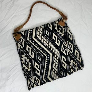 Merona Black & White/Cream Purse